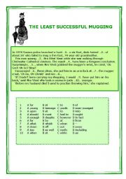 English Worksheets: THE LEAST SUCCESFUL MUGGING