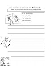 English Worksheets: ACTIONS_MAKE QUESTIONS