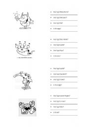 English Worksheets: Questions with has.