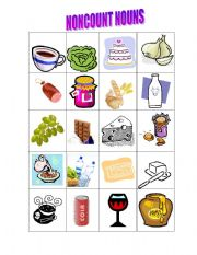 English Worksheets: Noncount Nouns