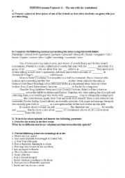 English Worksheet: Friends TV series