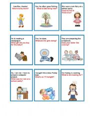 English Worksheet: Questions-answers chain game.