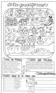 English Worksheet: vegetables and fruit