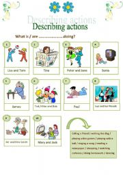 English Worksheets: Describing actions