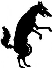 English Worksheet: Little red riding hood shadow puppet patterns and script