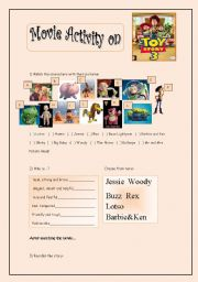 English Worksheets: Toy Story Movie Activity