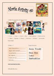 English Worksheet: Toy Story Movie Activity
