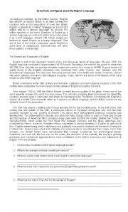 English Worksheets: English Language Around the World