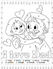 English Worksheet: Fathers day