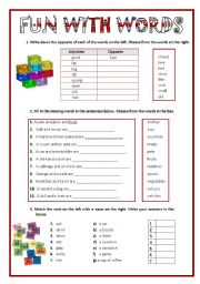 Printables Substitute Teacher Worksheets english teaching worksheets general vocabulary fun with words