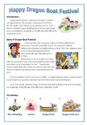 English Worksheet: Dragon Boat Festival