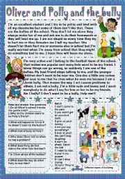 English Worksheets: Oliver and Polly and the bully