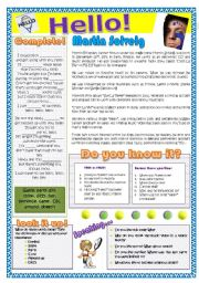English Worksheet: Hello -Martin Solveig-