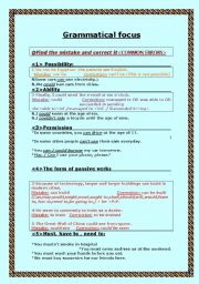 English Worksheets: Grammatical Focus