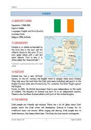 English Worksheet: Ireland - culture