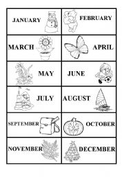 English teaching worksheets months of the year for Months of the year coloring pages