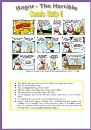 English Worksheet: Hagar - Comic Strip 6