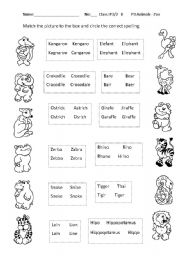 English Worksheets: zoo