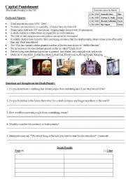 English Worksheet: Death Penalty in the US