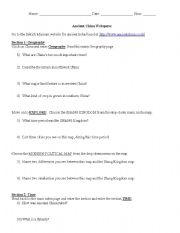 english worksheets ancient china webquest