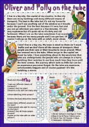 English Worksheets: Oliver and Polly on the tube
