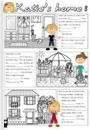 English Worksheet: Katie´s home 3