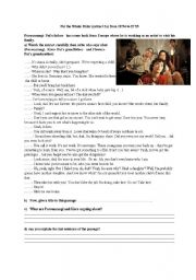 English Worksheets: The Whale Rider extract 2 part 1 and part 2