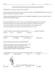 English Worksheet: Literary Devices (Figurative Language) Quiz