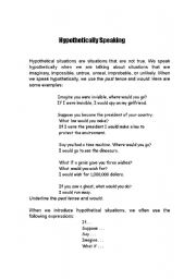 English Worksheets: Hypothetical questions