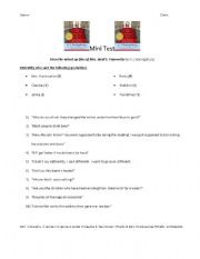 English Worksheets: From the mixed up files of Mrs. Basil E. Frankweiler