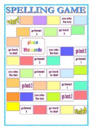 English Worksheet: Spelling game