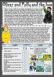 English Worksheets: Oliver and Polly and the loss
