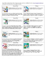 English Worksheets: Guess What Question Sheet
