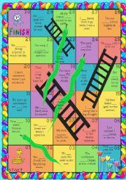 Irregular Verbs Board Game