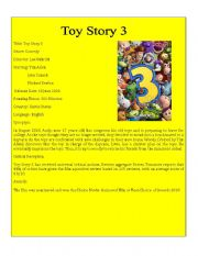 English Worksheets: Movie Detail 4 ( Toy Story 3)