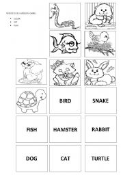 English Worksheets: Farm Animals - Memory Game
