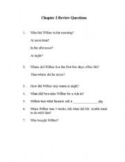 Charlotte´s Web Review Questions