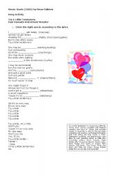 English Worksheets: Try a little tenderness - Duets Movie