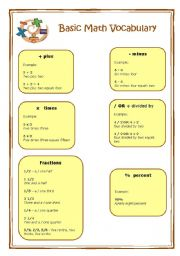 Printables Math Vocabulary Worksheets worksheet basic math vocabulary english vocabulary