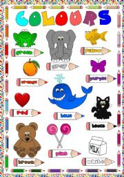 English Worksheet: COLOURS - POSTER