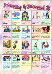 English Worksheet: Adjectives ending in -ed and -ing