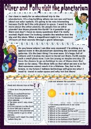 English Worksheets: Oliver and Polly visit the planetarium