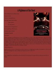 English Worksheets: Movie Detail 7 ( A Nightmare on Elm Street)