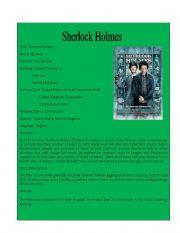 Movie Detail 8 ( Sherlock Holmes)