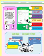 English Worksheets: The Father´s Day Present Page 2