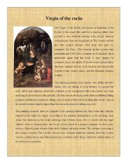 English Worksheets: Painting 6 ( Madonna of the Rocks)