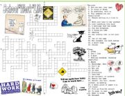 English Worksheet: School, Work and Life Vocabulary Crossword