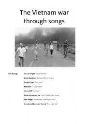 The Vietnam war through songs