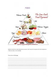 English Worksheets: Food.  Countable/Uncountable nouns