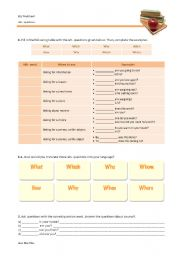 English Worksheets: Wh- words and wh- questions